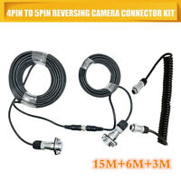 reverse camera Trailer Cable Coil and 4PIN Connectors for Truck,Trailer, Caravan