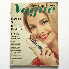 vintage VOGUE Sewing Book Paperback 1958 How to book