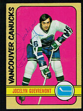 Jocelyn Guevremont #75 signed autograph auto 1972-73 Topps Hockey Trading Card
