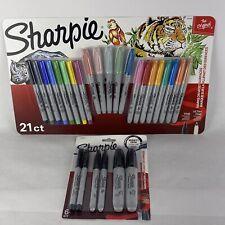21 Sharpie Fine Amp Ultra Fine Permanent Markers Ultimate Collection Bonus 6 Black