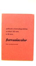 Ferraniacolor professionale pellicole cinematografiche a colori 35mm e 16mm 1957