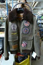 Veste aviateur en cuir fourrée taille 52 Neuve