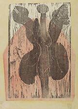 GERHARD ALTENBOURG - BERÜCKEND DIESE HÄLSE ... - Farbholzschnitt 1970