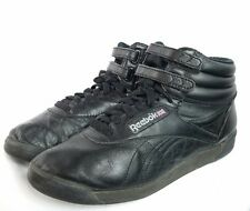 Womens Vintage REEBOK Classic High-tops Black Old School Sneakers Shoes 7.5 M SE