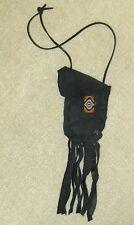 Fringed Leather Medicine Pouch BEADED STRIP Handmade OA Mtn Man Pow Wow  MP167