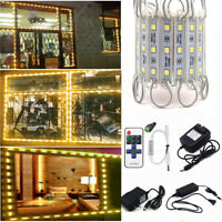 10~200FT 5050 SMD Warm White 3 LED Module Light STORE FRONT Window Sign Lamp Kit
