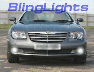 White LED Halo Fog Lights driving lamps kit for 2004-2008 Chrysler Crossfire