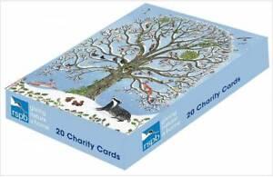 RSPB Box of 20 Snowy Birds Charity Christmas Cards