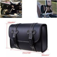 Motorcycle Saddle Luggage Side Back Handle Bar Pouch Tool Bag Storage PU Leather