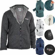 PASSENGER Mens Zip Sherpa Borg Fleece Lined Fur Heavy Fleece Jacket Cardigan