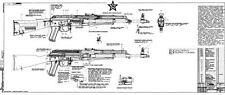 *Blueprints Kalashnikov Soviet Russian AKM AK-47 2 Large Posters AK47 LQQK BUY>!