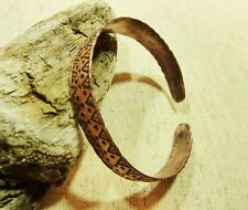 Antique Hammered Copper Viking Bracelet 22.