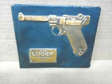9 MM 1908 LUGER PARABELLUM Hammered Copper Plaque Wall or Counter Display C 1971