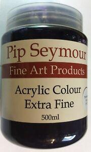 Pip Seymour Dioxazine Purple Acrylic Colour 500ML. New Unused