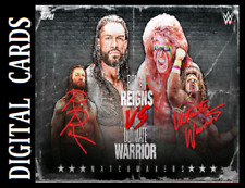 Topps SLAM WWE MATCHMAKERS 2021 SERIES 2 MOTION SIGNATURE SR [ REIGNS & WARRIOR]