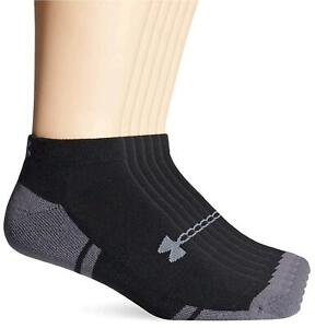 Under Armour Men's Resistor III Lo Cut Socks (6, Black/Graphite, Size X-Large wK