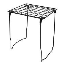 LockerMate Stac-A-Shelf Tall 12 Inch Wire Stackable Locker Shelf, Black