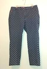 woman within womens jeans size 18W blue with white polka dots