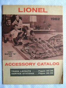 1962 LIONEL TRAINS ACCESSORY CATALOG PRICES INSTRUCTION MANUAL BOOK