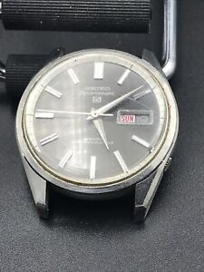 Vintage Seiko Sportsmatic 5 Automatic Black Dial Wristwatch Running 6619 8060