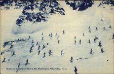 Skiing White Mountains NH Old Postcard TUCKERMAN RAVINE - Blue Tint #1