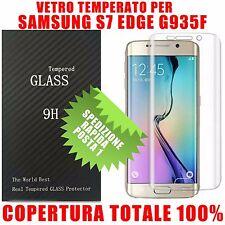 Pellicola Vetro Temperato curvo x Samsung Galaxy S7 Edge G935f Copertura totale