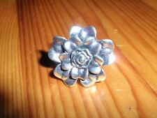 *NEW* Pretty Silver Tone Metal Flower Ring Adjustable Retro Vintage Look