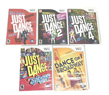 Wii Just Dance 1, 2,4.Disney Party & Dance On Broadway Complete W/Manual