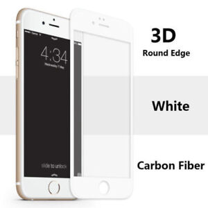 For iPhone 6s Plus 3D Full Cover Curved Tempered Glass WHITE Screen Protector