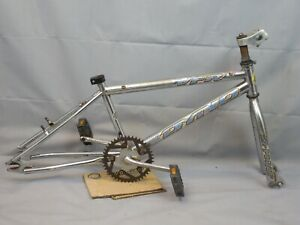 1996 GT DYNO VFR D-Force BMX Bike Frame Vintage Midschool Chrome Steel Charity!