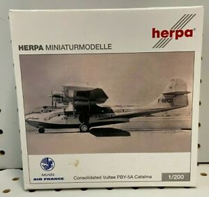 """Herpa 1:200 Air France Catalina PBY-5A 6.25"""" W/S Tail #F-BBCD Item #555241"""