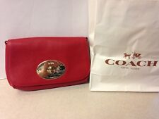 COACH Red Pebble Clutch and Crossbody  New w Tags