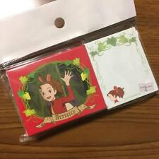 The Borrower Arrietty- mini sticky note Genuine Studio Ghibli Japan