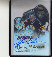 "2001-02 TOPPS STANLEY CUP HEROES GERRY CHEEVERS ""BOSTON BRUINS"" AUTO AUTOGRAPH"
