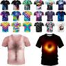 3D Printing Women Men T-Shirt Casual Short Sleeve Graphic Tops Tees Funny Cute