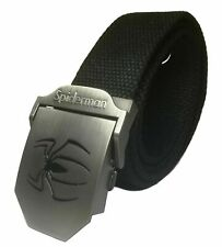 Spider-Man Web Metal Buckle With Knit Canvas Belt