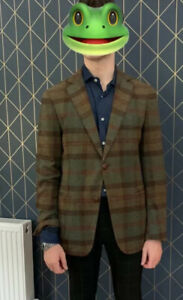GANT Michael Bastian Blazer 42 Check Tweed Pattern