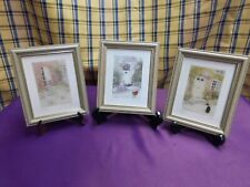 3 Miniature framed prints by Janet Sheath, all limited editions.