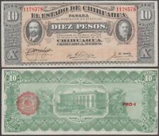 Mexico - Estado De Chihuahua, 10 Pesos, 1915, VF+++, P-S535(a)