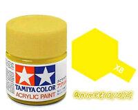 TAMIYA COLOR X-8 Lemon Yellow MODEL KIT ACRYLIC PAINT 10ml Free Shipping New