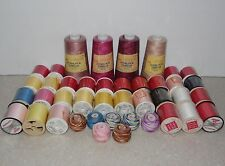 NEW and PLASTIC SEALED ~ Lot 41 SPOOLS of THREAD ~SEWING ~ OVERLOCK ~ TATTING