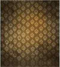 10x10FT Brown Tan Damask Wall Baroque Pattern Photo Studio Background Backdrop