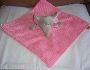 Little Safari Pink Elephant Soft Corded Comforter Blankie TJM  VGC
