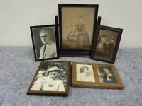 Lot of Photos-Frames-Standing Wooden Frame-Nice-B & W
