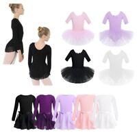 Girls Kids Ballet Dress Gymnastics Leotard Tutu Skirt Dancewear Costume Clothes