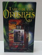 TAROT NEW DE LOS ORISHAS SANTERIA ORIGINAL 74 CARTAS  INSTRUCCIONES INCLUIDAS