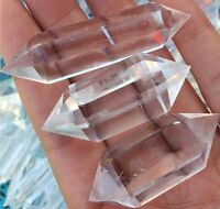 NATURAL Rock CLEAR QUARTZ CRYSTAL 1PCS AAA DT WAND POINT Healing TOP #L2