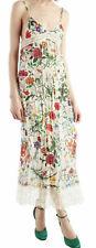 GUCCI FLORA Silk Slip Dress with Lace GUCCI Stripe T 40 UK 8 10 BNWT