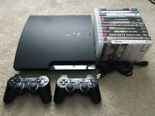 Sony PlayStation 3 PS3 Console w/ 12 Games 2 Controllers 150GB CECH-2501A