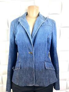 THE LOOK JEANIUS Randolph Duke Jeans Jacket Blazer Sz 8 RL100306